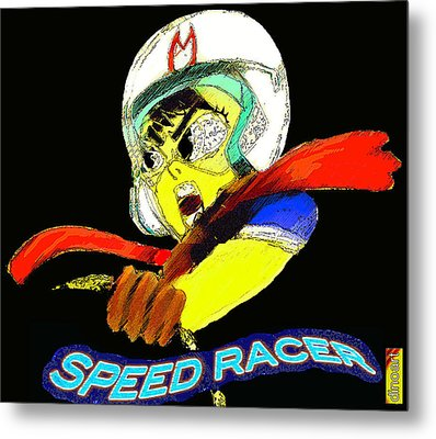 Speed Racer Metal Print by Jazzboy