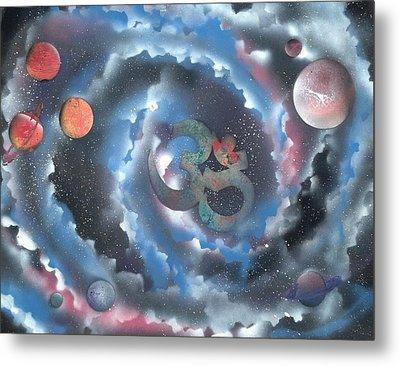 Spiral Galaxy Om Metal Print by Thomas Roteman