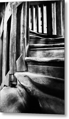Spiral Staircase Metal Print by John  Bartosik