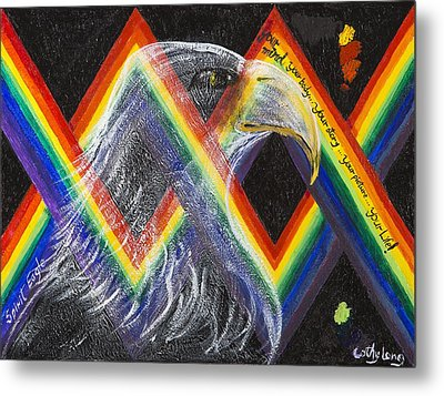 Spirit Eagle Metal Print by Cathy Long