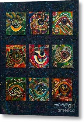 Metal Print featuring the painting Spirit Eye Collection II by Deborha Kerr