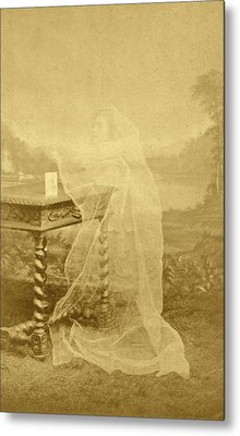 Spirit Photograph Metal Print by American Philosophical Society