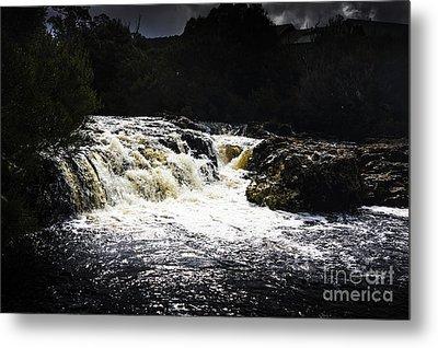 Splashing Australian Water Stream Or Waterfall Metal Print