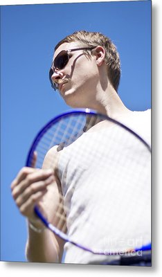 Sporting A Racquet Metal Print by Jorgo Photography - Wall Art Gallery