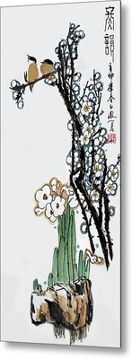 Metal Print featuring the photograph Spring Melody by Yufeng Wang