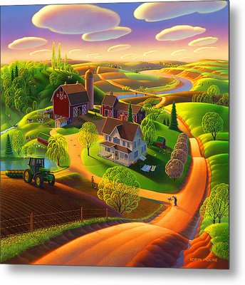 Spring On The Farm Metal Print by Robin Moline