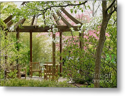 Spring Seating Metal Print