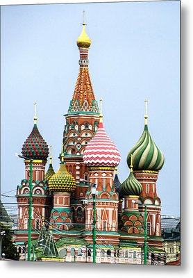 St Basils - Red Square - Moscow Russia Metal Print by Jon Berghoff