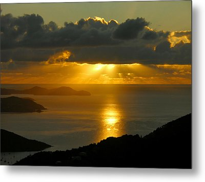 St. John Sunrise Metal Print by Stephen  Vecchiotti