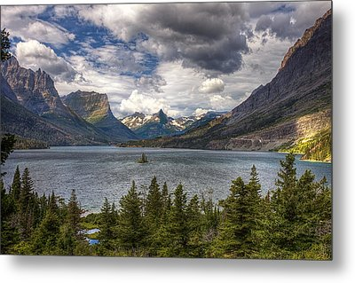 St. Mary's Lake Metal Print by Andrew Soundarajan