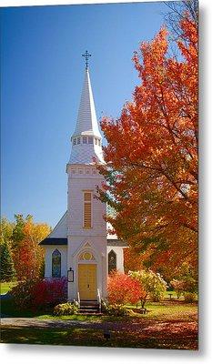 St Matthew's In Autumn Splendor Metal Print