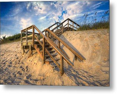 Stairway To Heaven Metal Print by Debra and Dave Vanderlaan
