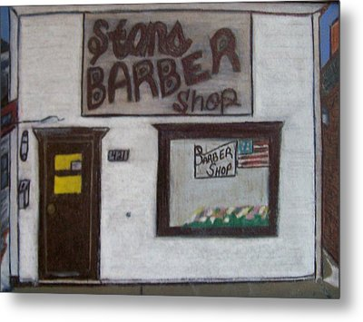 Stans Barber Shop Menominee Metal Print