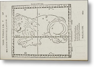 Star Constellations And Heavenly Bodies Metal Print
