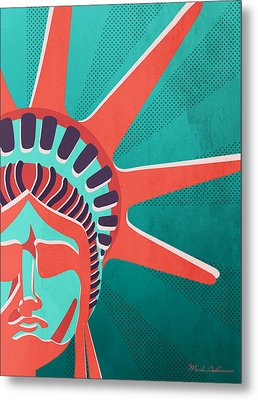 Statue Of Liberty  Metal Print by Mark Ashkenazi