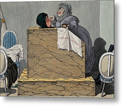 Steam Bath, 19th Century Metal Print by Wellcome Images