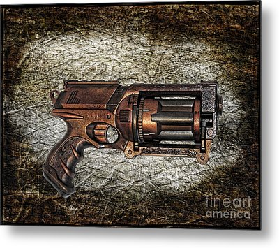Steampunk - Gun - The Multiblaster Metal Print by Paul Ward