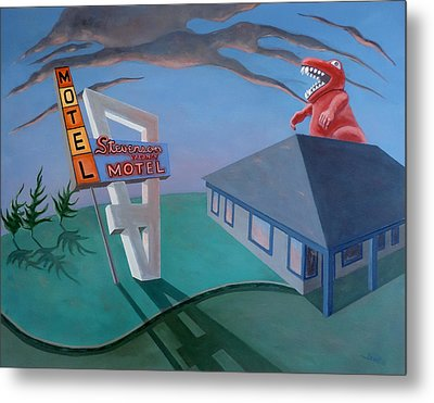 Metal Print featuring the painting Stevenson Motel by Sally Banfill