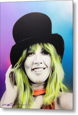 Stevie Nicks - ' Stevie ' Metal Print by Christian Chapman Art