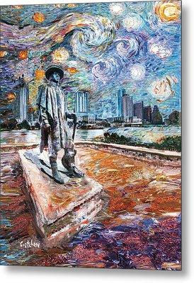 Stevie Ray Gogh Metal Print