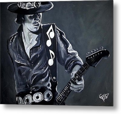 Stevie Ray Vaughan Metal Print by Tom Carlton