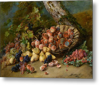 Still Life With Fruits Metal Print by Madeleine Jeanne Lemaire