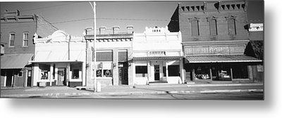 Store Fronts, Main Street, Small Town Metal Print by Panoramic Images