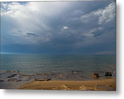 Storm Over Lake Superior Metal Print
