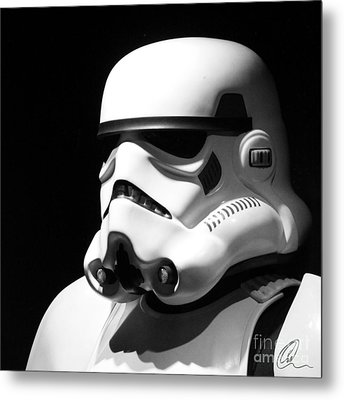 Metal Print featuring the photograph Stormtrooper by Chris Thomas