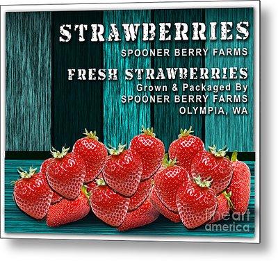 Strawberry Farm Metal Print by Marvin Blaine