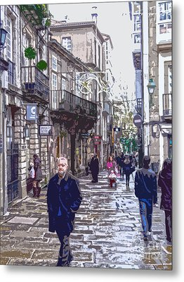Streets And People Metal Print