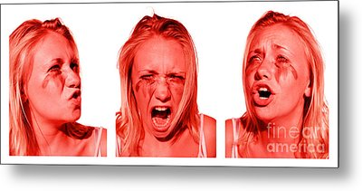 Stress Anger And Sadness Metal Print by Jorgo Photography - Wall Art Gallery
