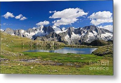 Metal Print featuring the photograph Strino Lake - Italy by Antonio Scarpi