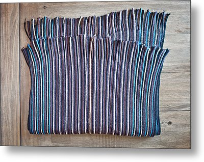 Striped Scarf Metal Print by Tom Gowanlock