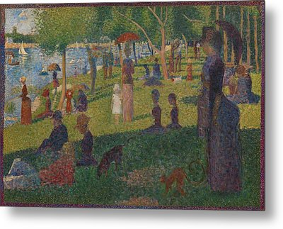 Study For A Sunday On La Grande Jatte Metal Print by Georges Seurat