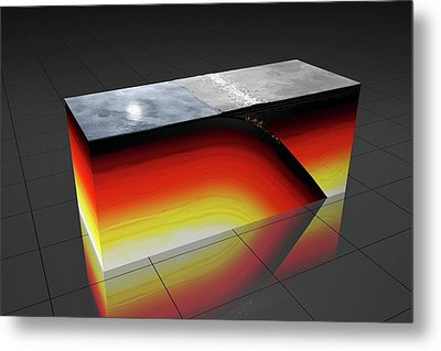 Subduction Zone Metal Print by Peter Matulavich
