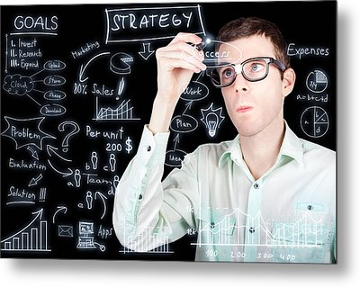 Success In Planning A Smart Business Strategy Metal Print by Jorgo Photography - Wall Art Gallery