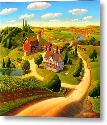 Summer On The Farm  Metal Print by Robin Moline