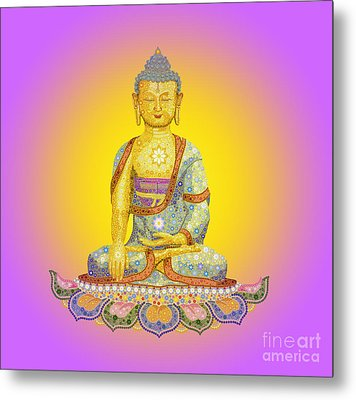 Sun Buddha Metal Print by Tim Gainey