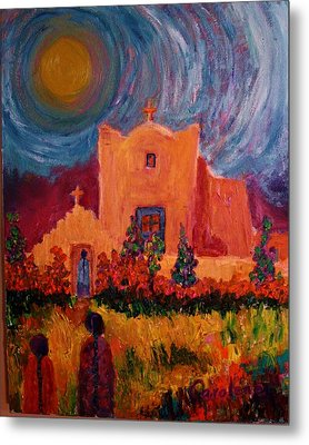 Sunday Morning In New Mexico Metal Print by Carolene Of Taos