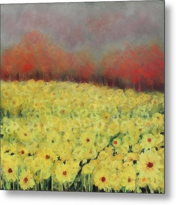 Metal Print featuring the painting Sunflower Days by Katie Black