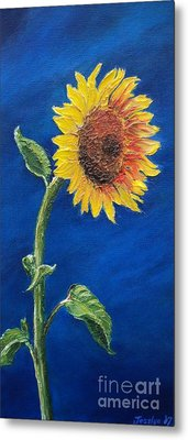 Sunflower In The Light Metal Print