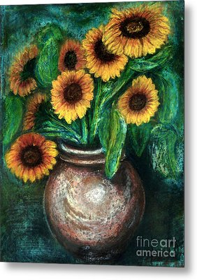 Sunflowers Metal Print by Jasna Dragun