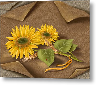 Sunflowers Metal Print by Veronica Minozzi