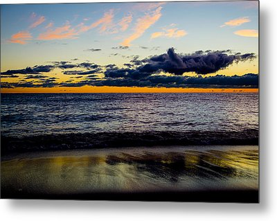 Metal Print featuring the photograph Sunrise Lake Michigan September 14th 2013 001 by Michael  Bennett