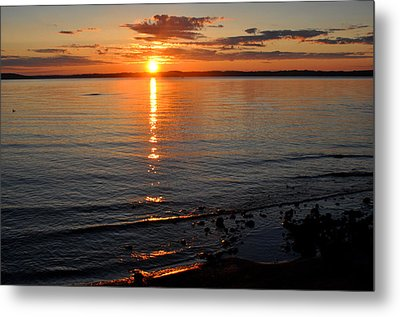Sunrise On Grand Traverse Bay Metal Print