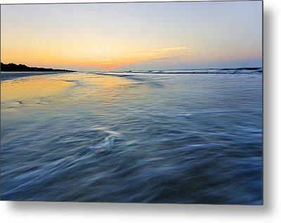 Sunrise On Hilton Head Island Metal Print by Peter Lakomy