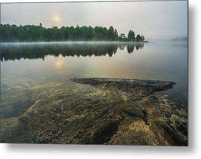 Sunrise Over A Tranquil Lake  Ontario Metal Print by Julie DeRoche