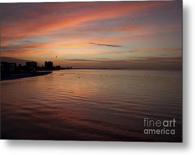 Metal Print featuring the photograph Sunrise Over Fort Myers Beach Photo by Meg Rousher