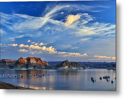 Sunrise Over Lake Powell Az Metal Print